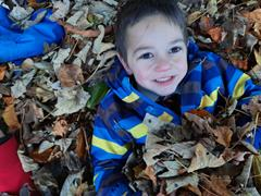 Playing In the Leaves and our learning to read journey