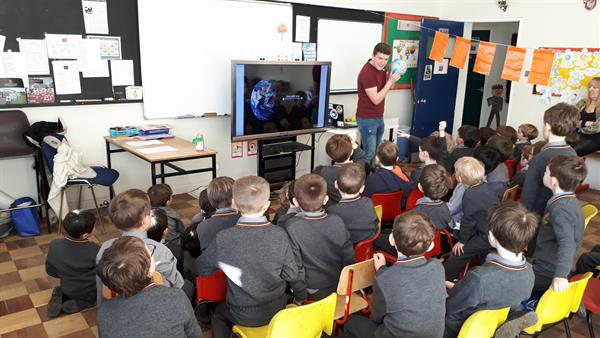 Visit from Eoin Tuohy of the European Space Agency